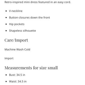 fceb050e6d3d Free People Dresses - NWT Free People Rolling Thunder Cord Mini Dress